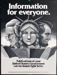 Image of a poster promoting U.S. government publications, 20th century