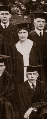 Elizabeth Hook, the first woman to graduate with a four-year degree, and the class of 1920